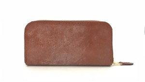 RE.ACT Bridle Leather Round Fastener Long Wallet Hazel