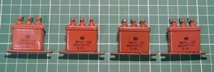 ロシア軍用 オイル コンデンサ(PIO) 紙オイル 0.51uF 200V 4個セット