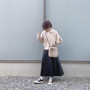 leather skirt[9/23n-21]