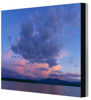 四つ切りワイド写真パネル アラスカ・ユーコン川 Leo R. Yamada撮影 木製パネル張り 20160615232422