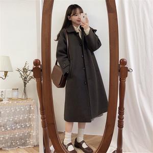 【アウター】韓国系スウィート少女ロング厚着コート