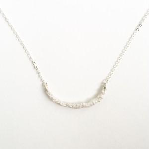 シルバータイプのヴァイオリンやヴィオラ弦を溶かし固めたネックレス (バータイプ) Melted silver strings necklace #1