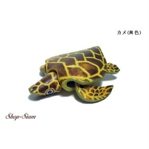 本牛革 アニマル キーチェーン カメ・亀/Turtle ハンドメイド製