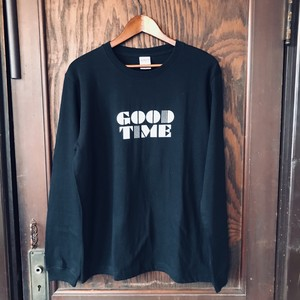 「GOOD TIME」T-shirts longsleeve (BLACK)