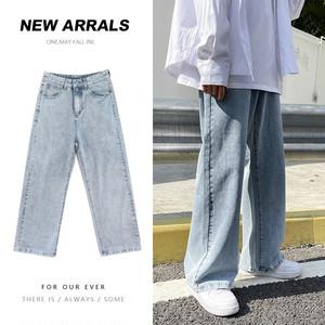 【メンズファッション】人気 韓国ルーズ オーバーオール クール 合わせやすい  無地 デニムパンツ47357940