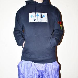 『くるむ』road sign hoodie