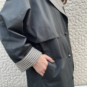 (LOOK) gingham check design trench coat