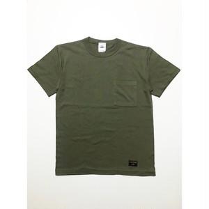バインダーネック 無地ポケットTシャツ