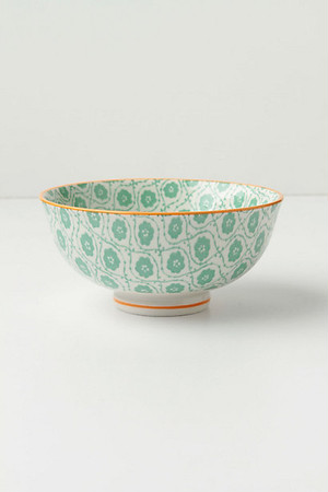 ANTHROPOLOGIE // 茶碗Bowl -tile green