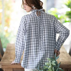 バックストリングシャツ(ギンガムチェック)