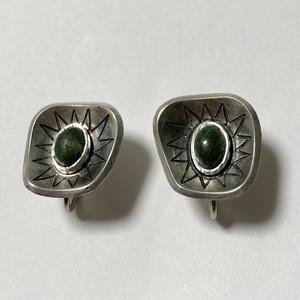 1953's Vintage  813 Silver & Gemstone Earrings Made In Finland