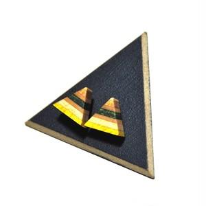 三角ウッドピアス シルバー