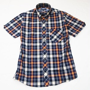 TRADITIONAL CHECK  B.D. SS SHIRT  Navy / White / Wine