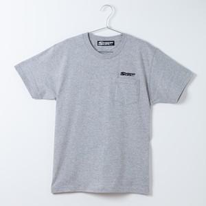 SURFIN' LIFEオリジナル ポケットTシャツ/SURFIN'LIFEロゴ(グレー×ブラック)