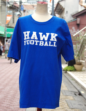 "【USED】 T-shirt ""HAWK FOOT BALL"" Mens/L-size"