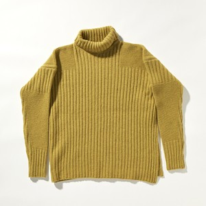 【FILL THE BILL】《UNISEX》MILITARY COMMAND KNIT - YELLOW
