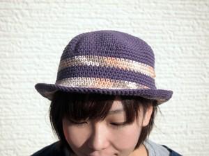 ボーダーコットンハット【オリーブボーダー系】