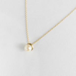 K10イエローゴールド アコヤ真珠 ネックレス スモール