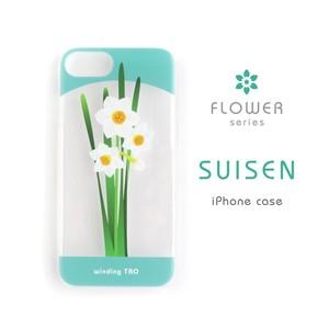 〈花シリーズ〉水仙クリアiPhoneケース(大きいサイズ)
