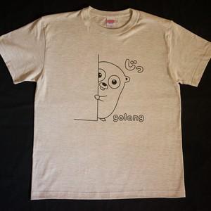 Golang Tシャツ 「じっ」