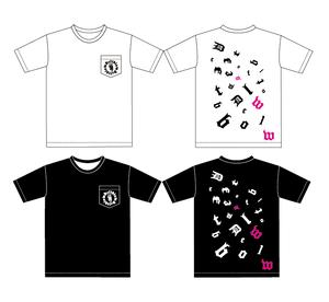 ポケットTシャツ UネックDEFTブロックロゴ&フクロウ 白or黒