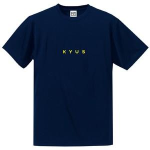 ドライシルキー miniロゴTシャツ(ネイビー×フラッシュイエロー)