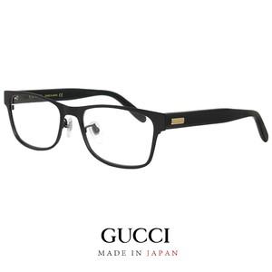 日本製 GUCCI グッチ メンズ メガネ ウェリントン型 gg274oj 001 眼鏡 gg0274oj チタン コンビネーション フレーム 黒縁