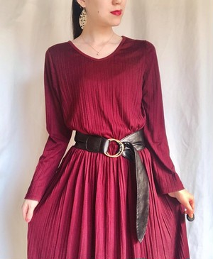wine red one-piece dress◇ボルドーワンピース