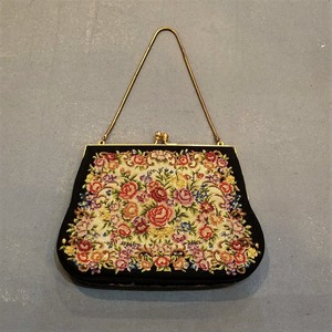 Vintage petit point mini hand bag[B-278]