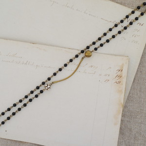 curve long necklace オニキス
