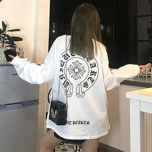 【トップス】原宿風bf長袖韓国系プルオーバープリントTシャツ27010857