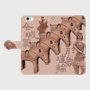 iphone6Plus/6aPlus 今城塚 形象埴輪(茶)手帳スマホケース