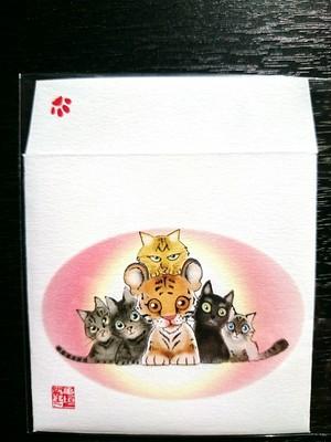 (寄付)十二支ポチ袋 寅のイラスト