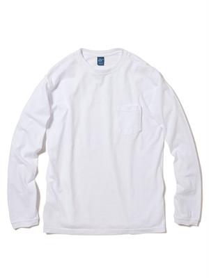 Good On ロングスリーブポケットクルーTシャツ WHITE