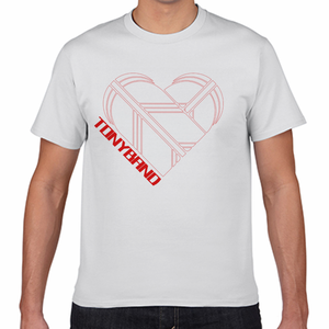 TONYBAND Tシャツ(白) ロゴ赤1(大)