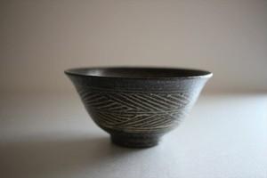小林耶摩人|枯三島飯碗(小)