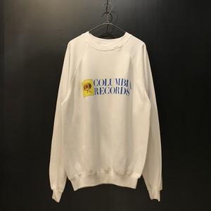 COLUMBIA RECORDS logo print sweat shirt
