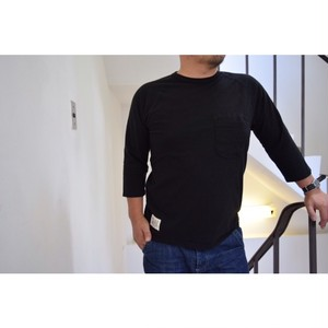 Simva114-0050 W-Pocket Solid 6分袖 Crew Neck