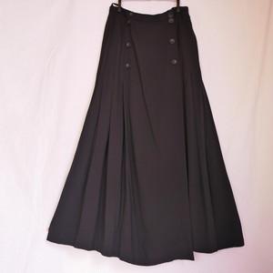 CHANEL Pleated Skirt #01 -Black-