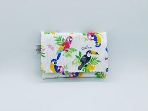ふた付きポケットティッシュケース♪南国の鳥