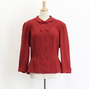 40's〜50's Vintage 【FORST MANN】Shawl color Virgin  Wool Jacket アメリカ 40年代 50年代 ヴィンテージ ショールカラー ウール ジャケット ワインレッド