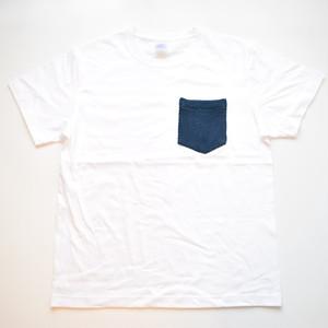 ビンテージ 藍染 剣道着 リメイク ポケットTシャツ XXL-XXXL