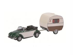 Schuco/シュコー VW Kafer Cabrio Knaus Schwalbennest トレーラーハウス付