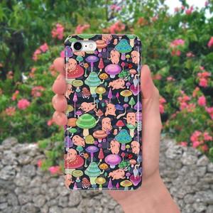 スマホケース(iPhone & Android)キノコ / 色:トロピカル