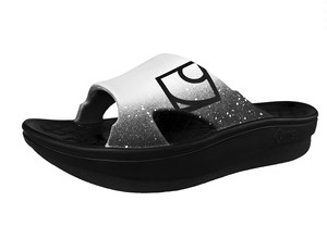 rig リカバリーサンダル SLIDE Black&White