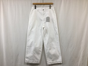 "UNIVERSAL PRODUCTS ""NO TUCK WIDE DENIM PANTS WHITE"""