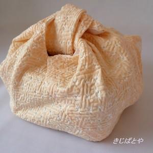あずま袋 オレンジシャーベット色の絞り