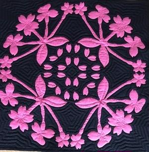 SakuraSAKU2019 ハワイアンキルトパターン