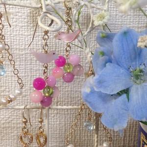 Happy garden pierced earring