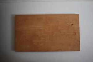 松下由典|木のトレー長方形特大 桜材 節なし